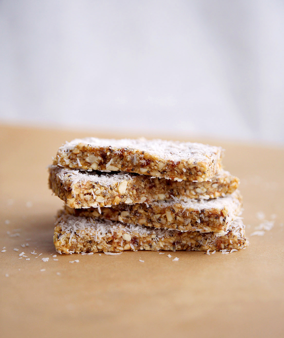 No-Bake Lemon Chia Seed Bars