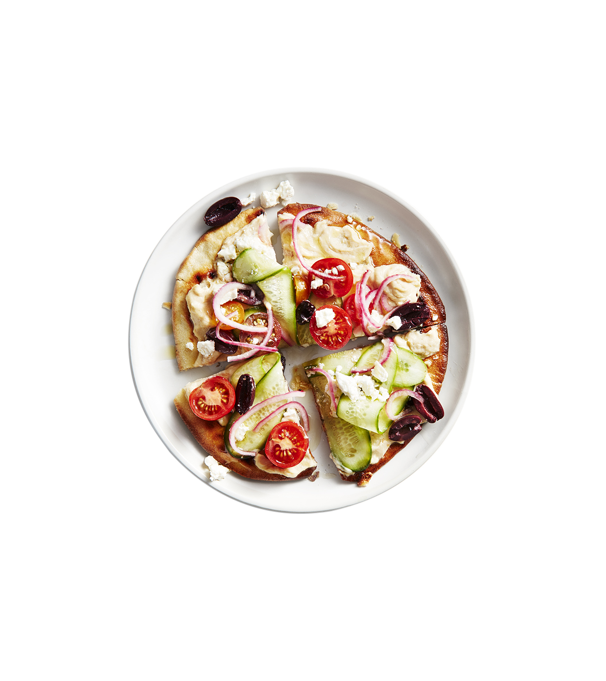 Greek Salad Pizzas