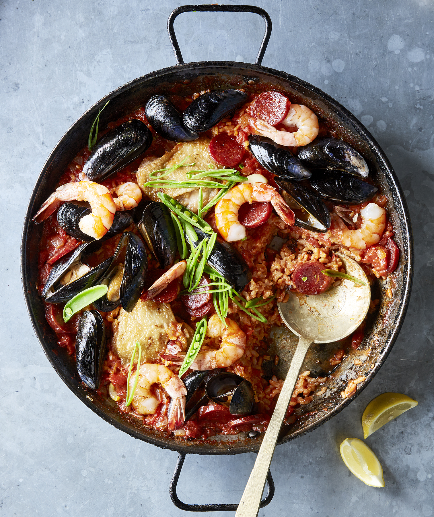 chorizo-chicken-shellfish-paella