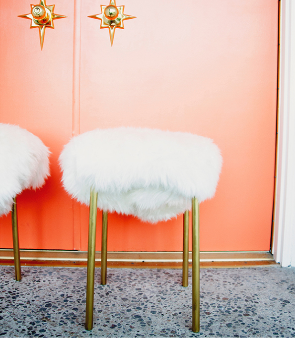 IKEA Furry Stools DIY
