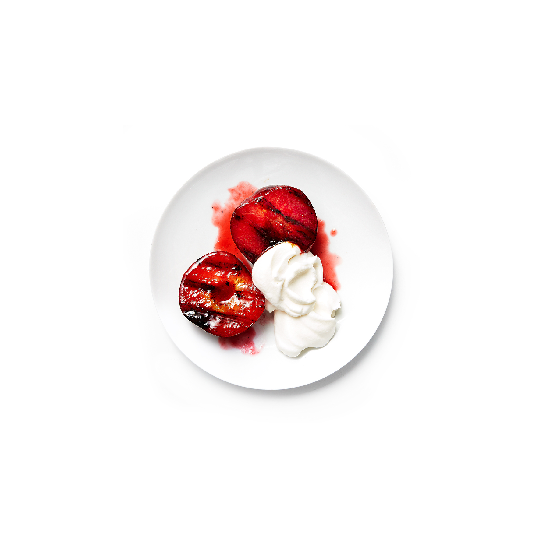 grilled-pluots-white-chocolate-cream