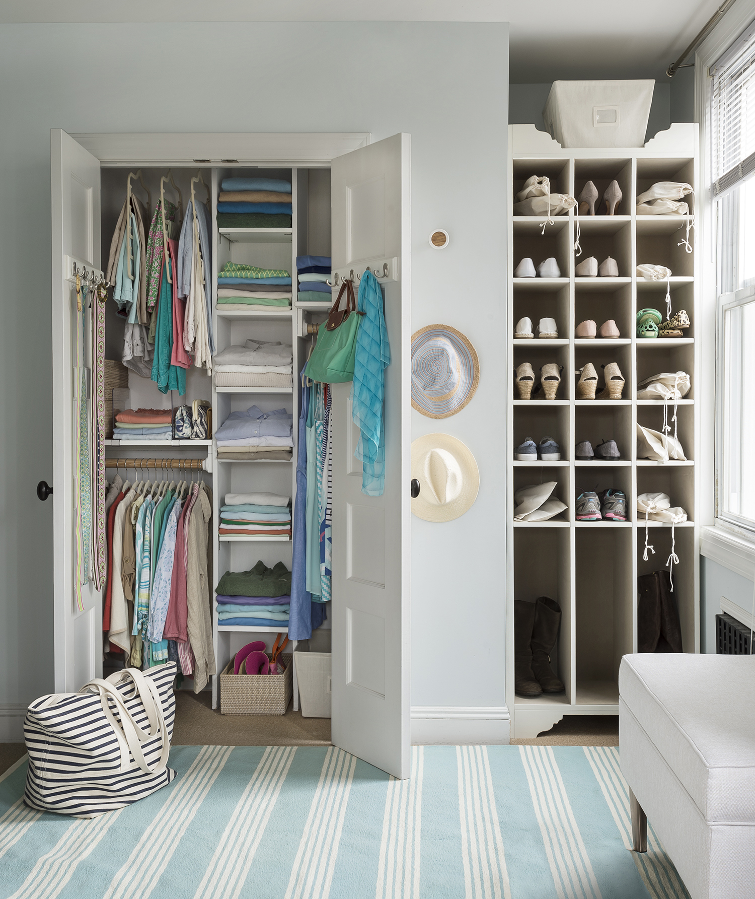Shelves Are Flexible Double Master Closet