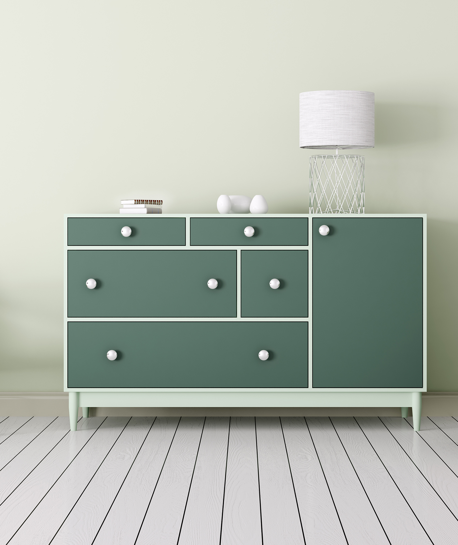 painted-green-dresser
