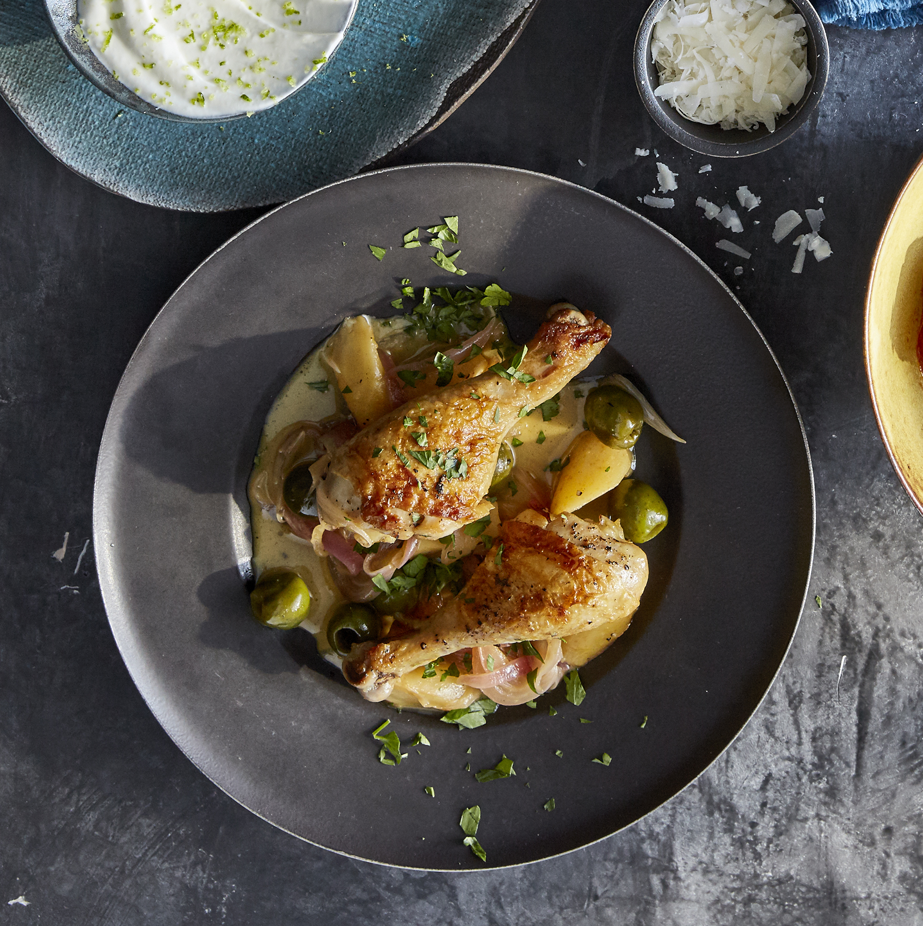 Citrus-Braised Drumsticks With Parsnips