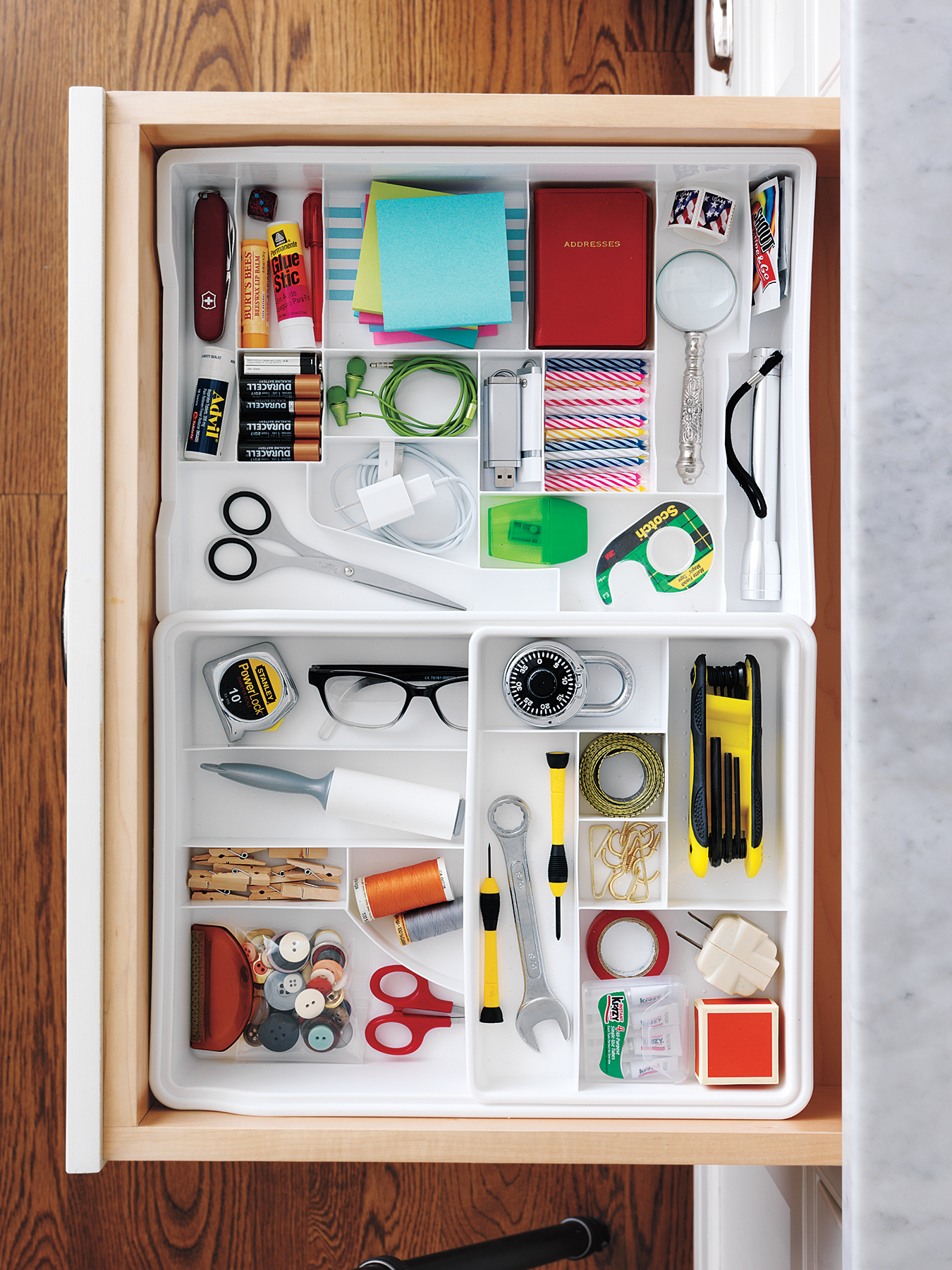 15 Organizing Ideas for Your Drawers - Real Simple on diy home tips, downsizing home tips, painting home tips, buying home tips, work at home tips,