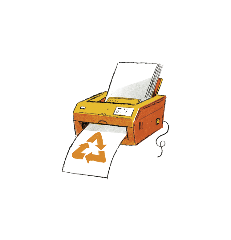 Illustration: printer recycling