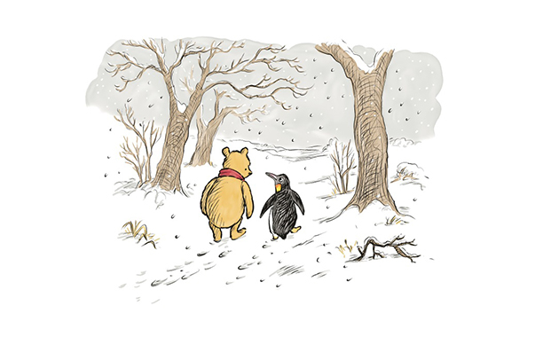 Penguin Cartoon Winnie the Pooh