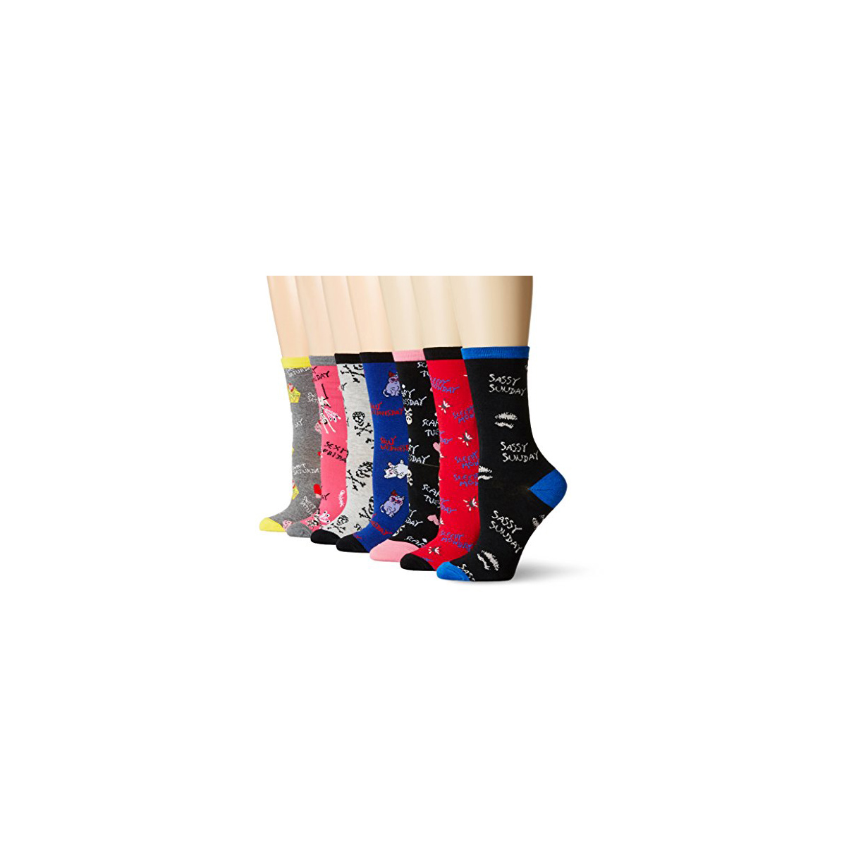 Betsey Johnson Women's Every Day Crew Socks