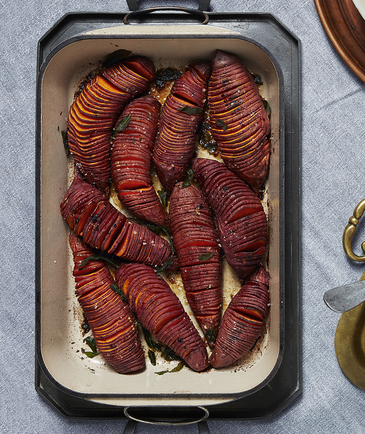 Brown Butter Hasselback Yams