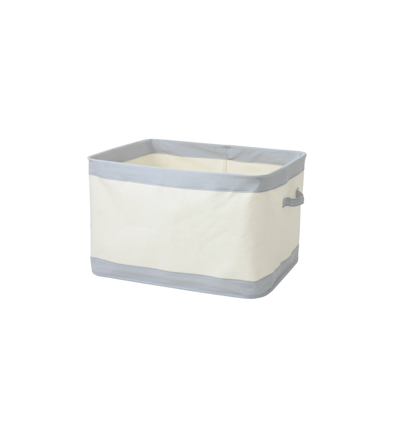 Collapsible Canvas Bin Large Gray