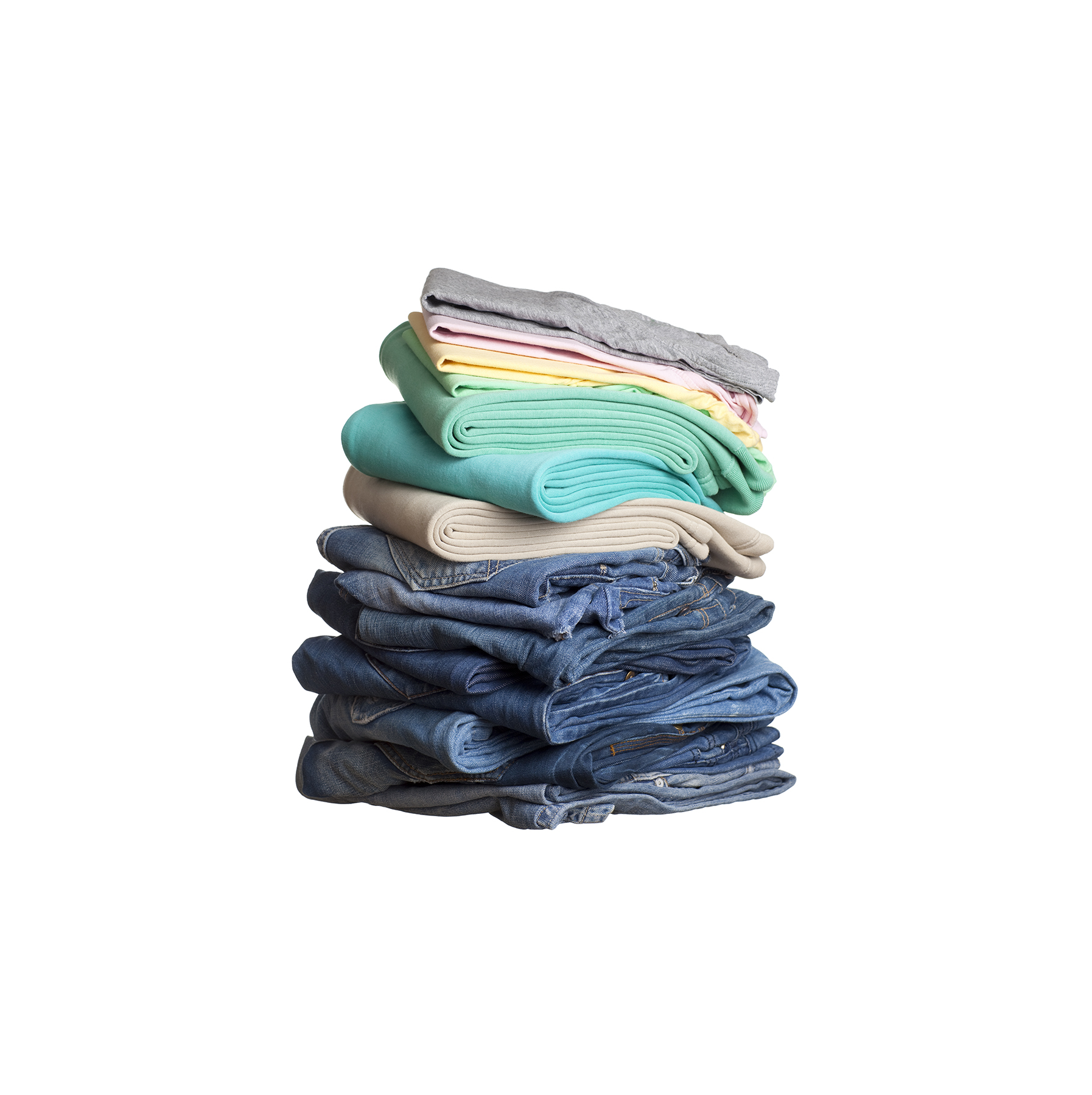 Heap of folded clothes