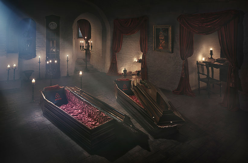 dracula coffin bedroom