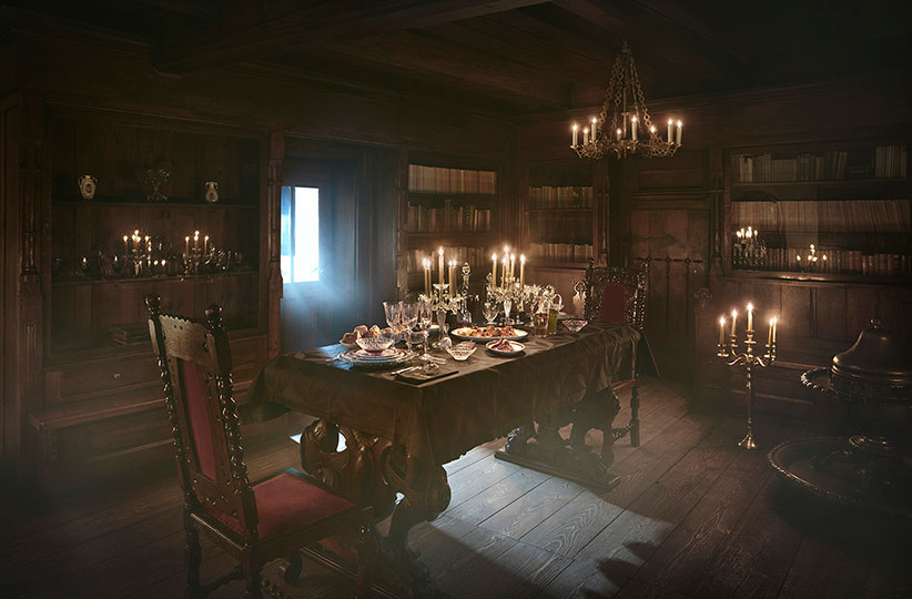 dracula castle dining room