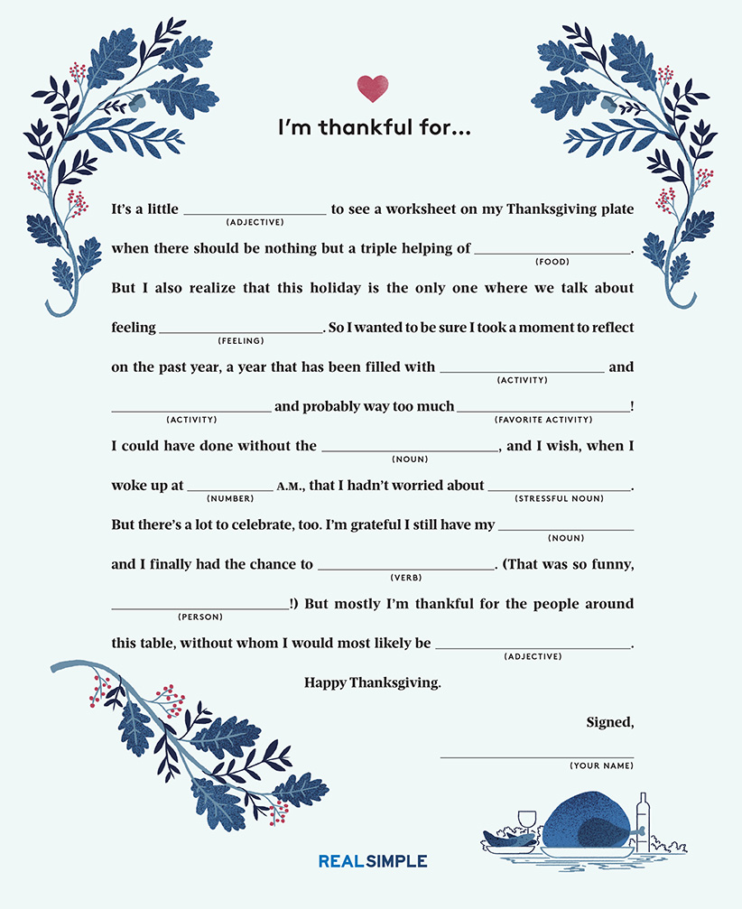 photo regarding Printable Mad Libs Sheets for Adults known as The Hilarious Products Each and every Thanksgiving Desk Must Incorporate