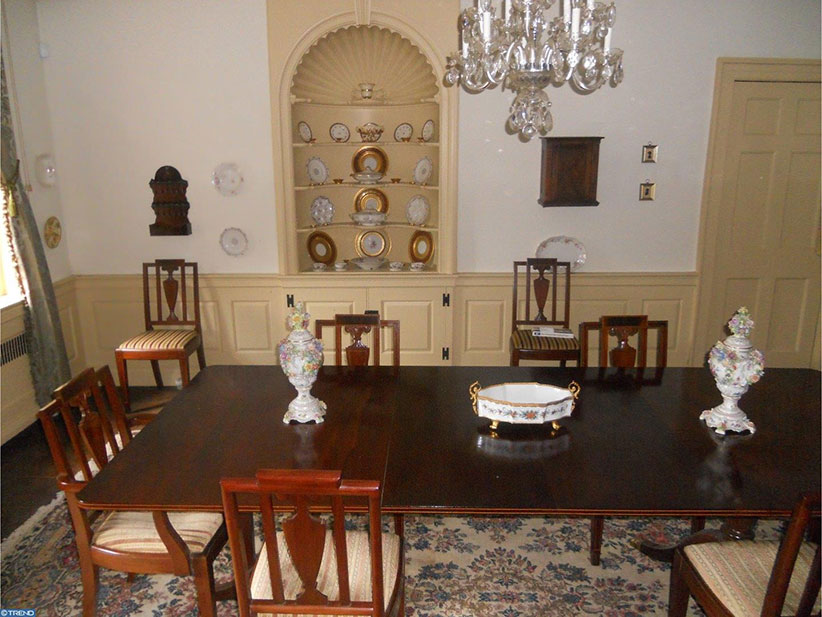 grace kelly house dining room