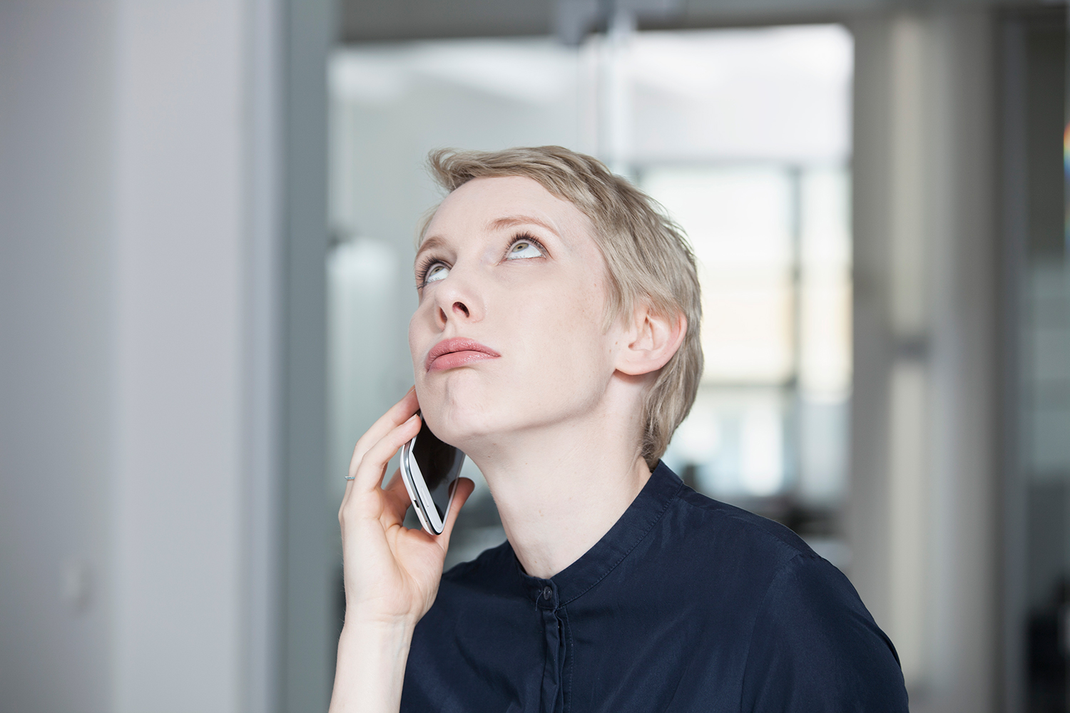 Woman Angry While on Phone