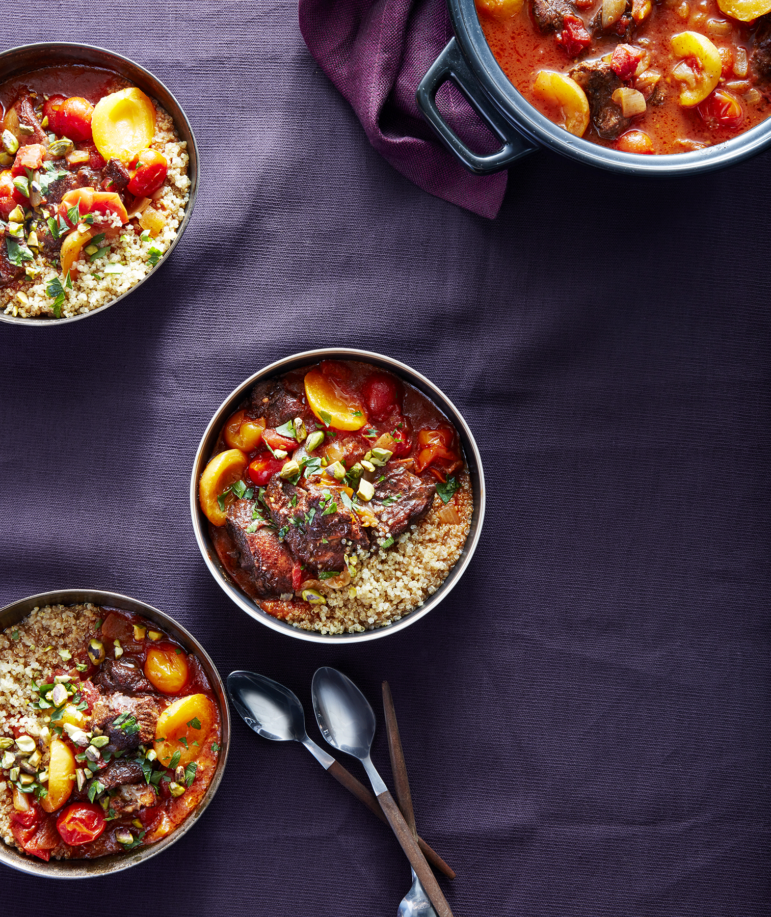 Chicken Tagine With Apricots and Pistachios