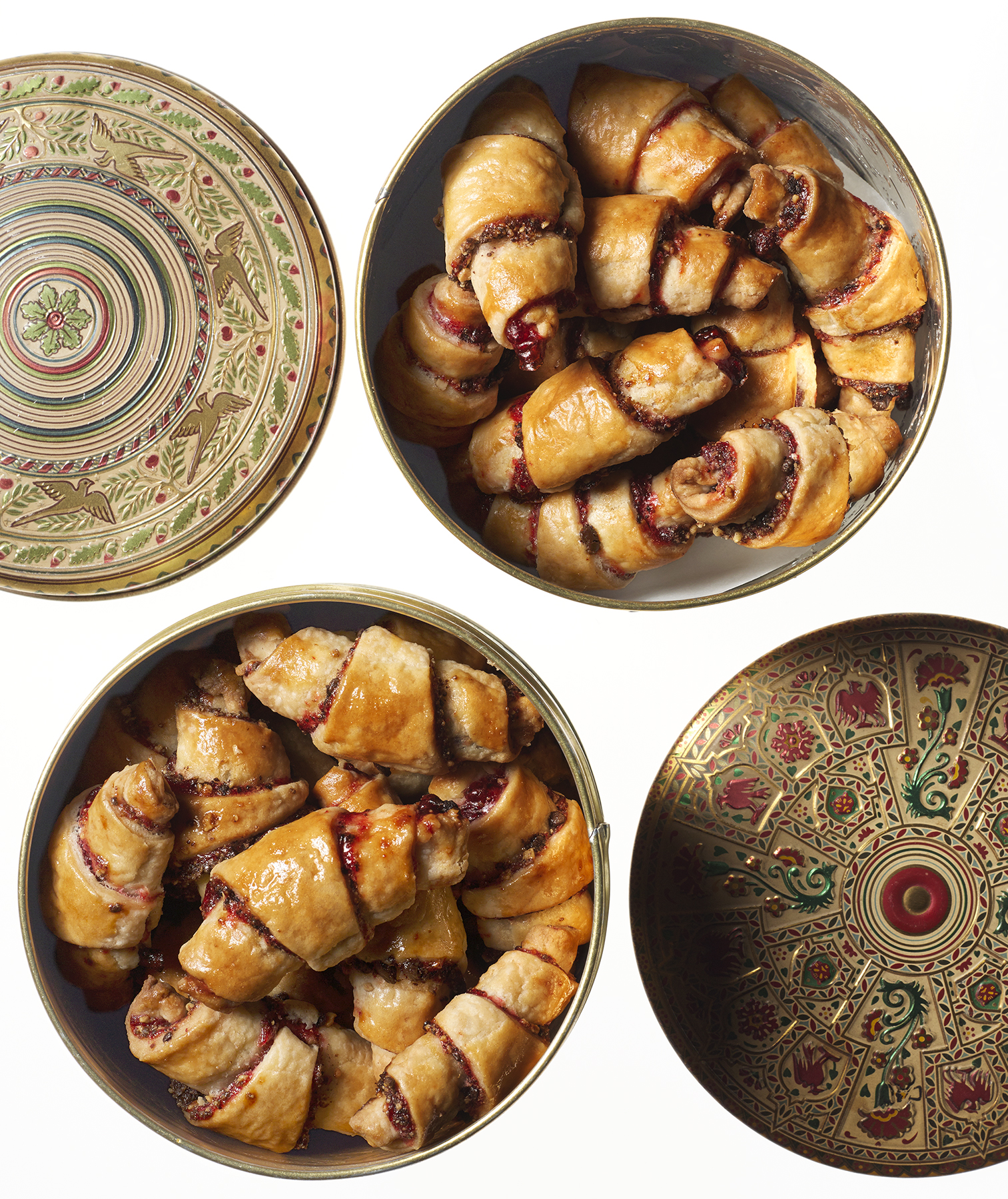 Chocolate, Raspberry, and Almond Rugelach