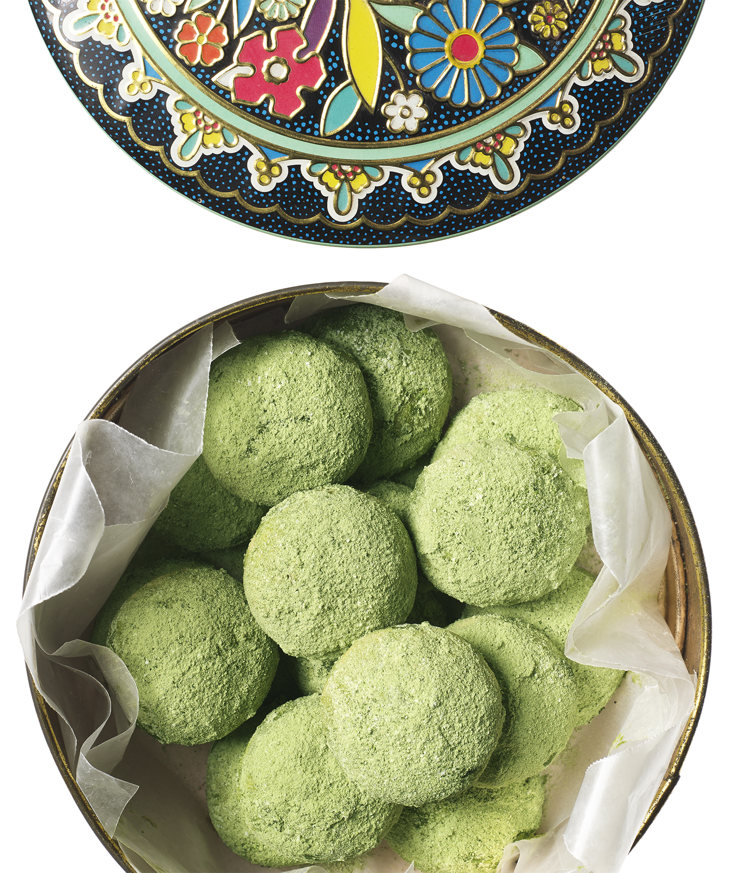 matcha-mexican-wedding-cookies