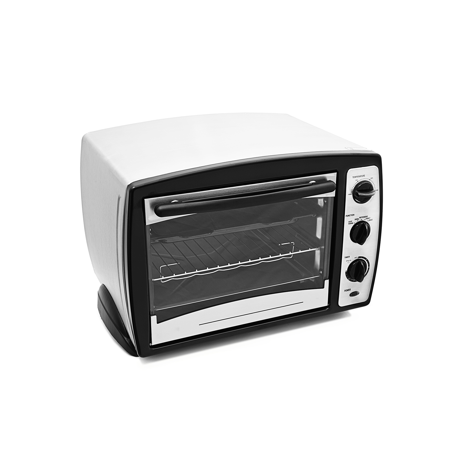 Toaster oven on white