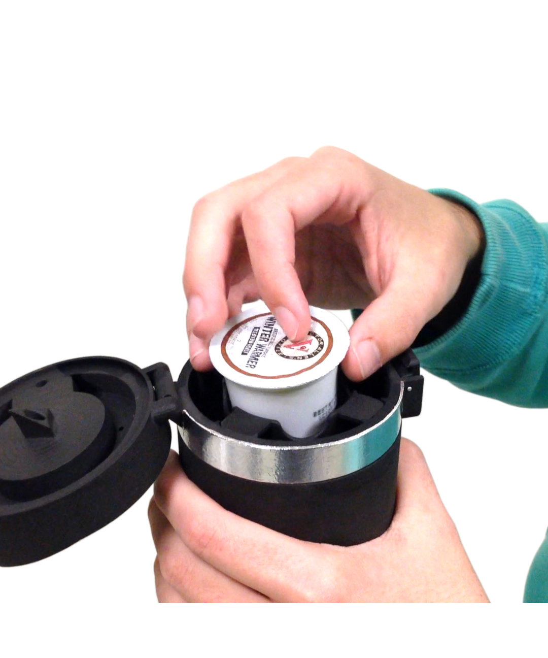 This New Travel Mug Brews K-Cups on the Go