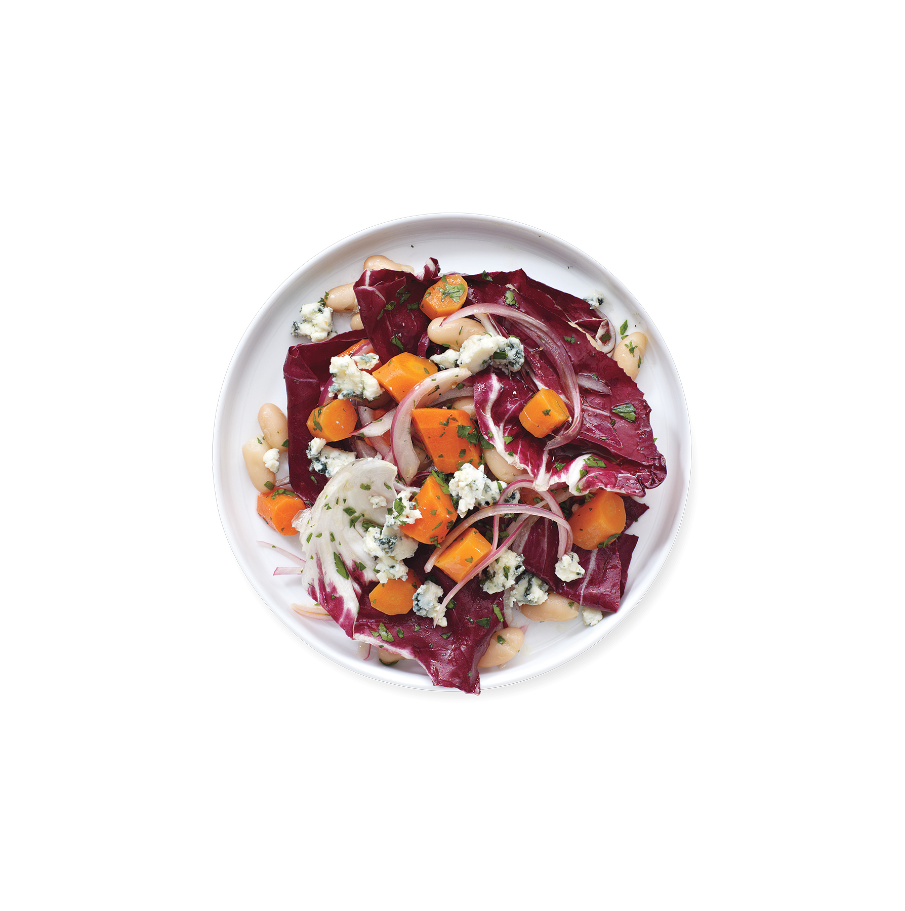 Carrot, Bean, and Radicchio Salad