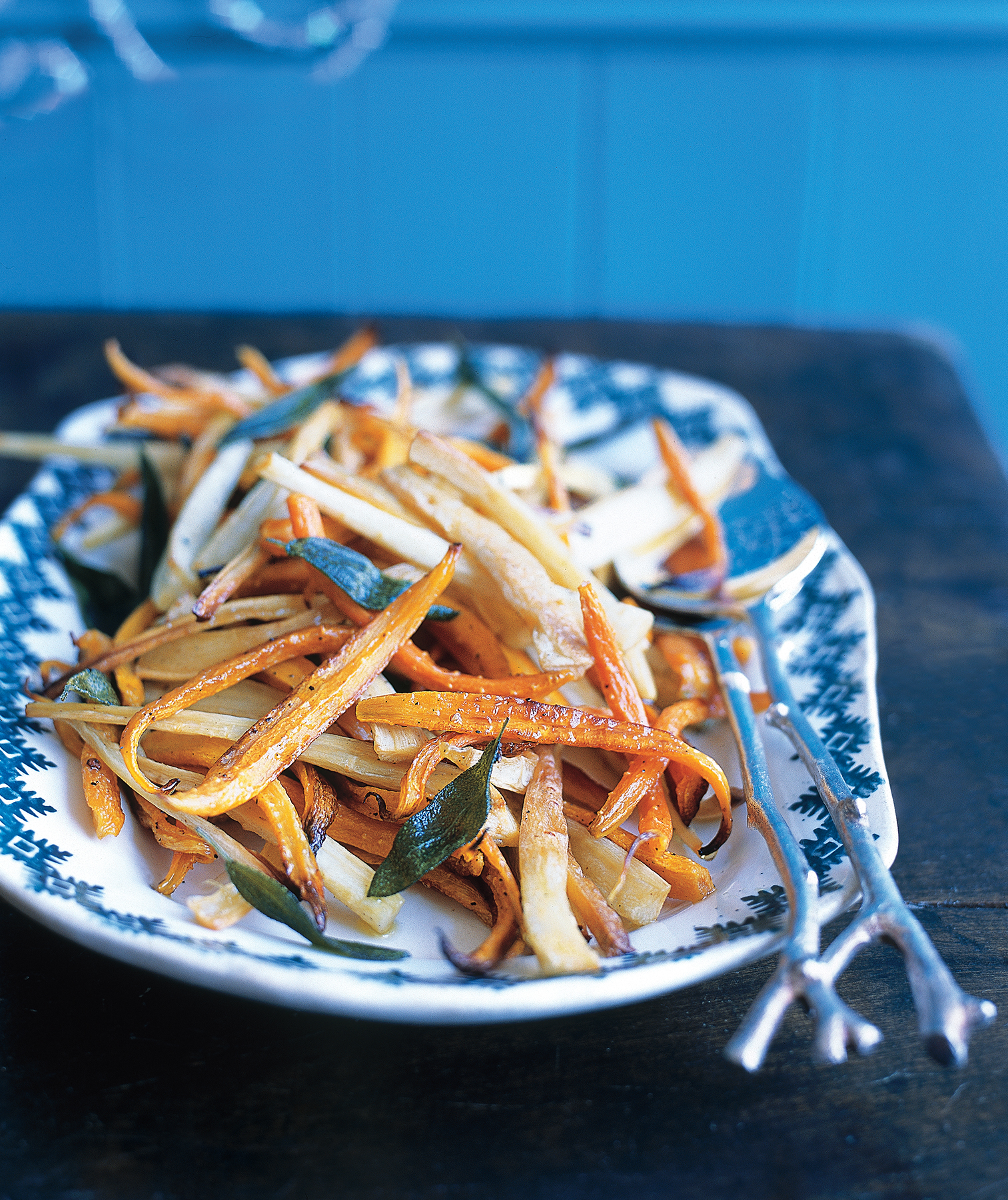 Roasted Parsnips and Carrots With Sage