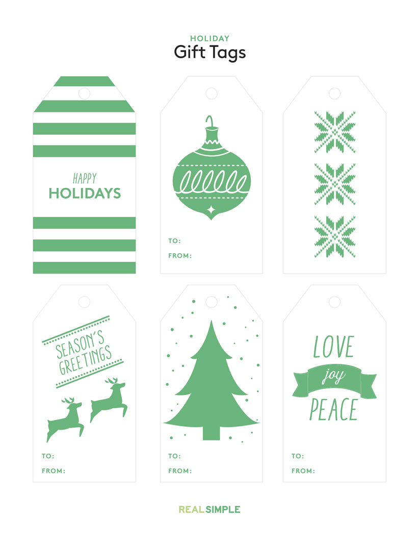 Printable Christmas Gift Tags | Real Simple