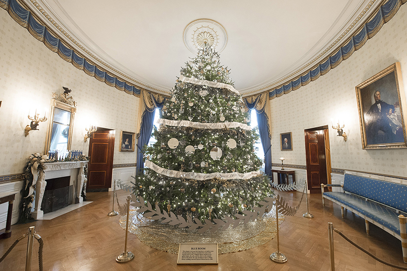 Grand Tree in Hall at White House