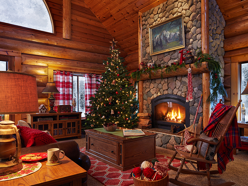 santa house living room