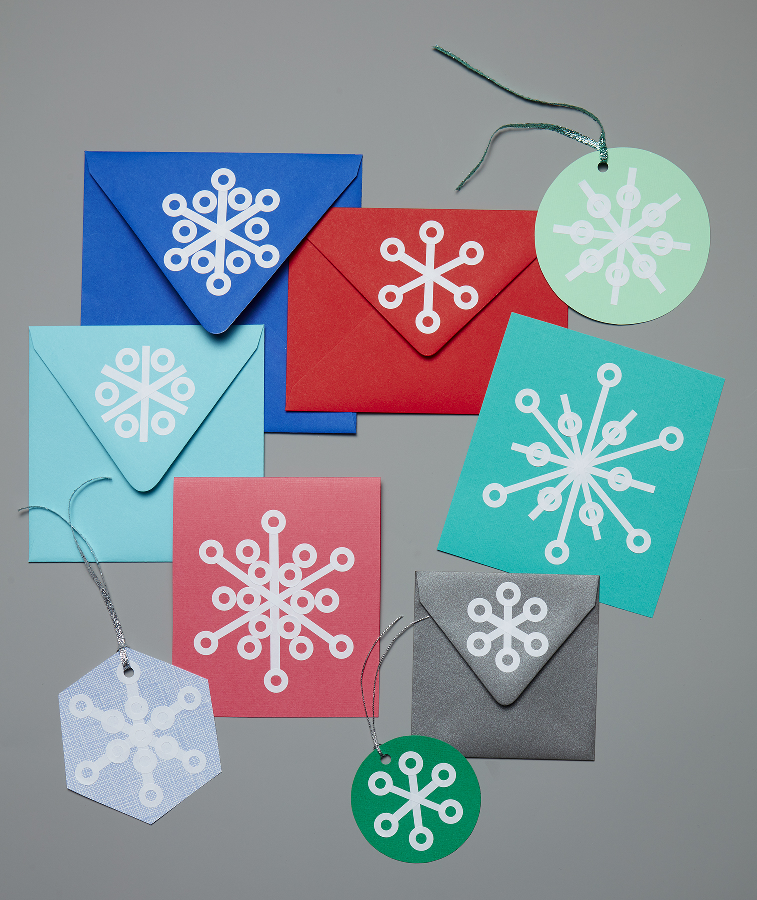 Snowflake Gift Tags and Card Embellishments