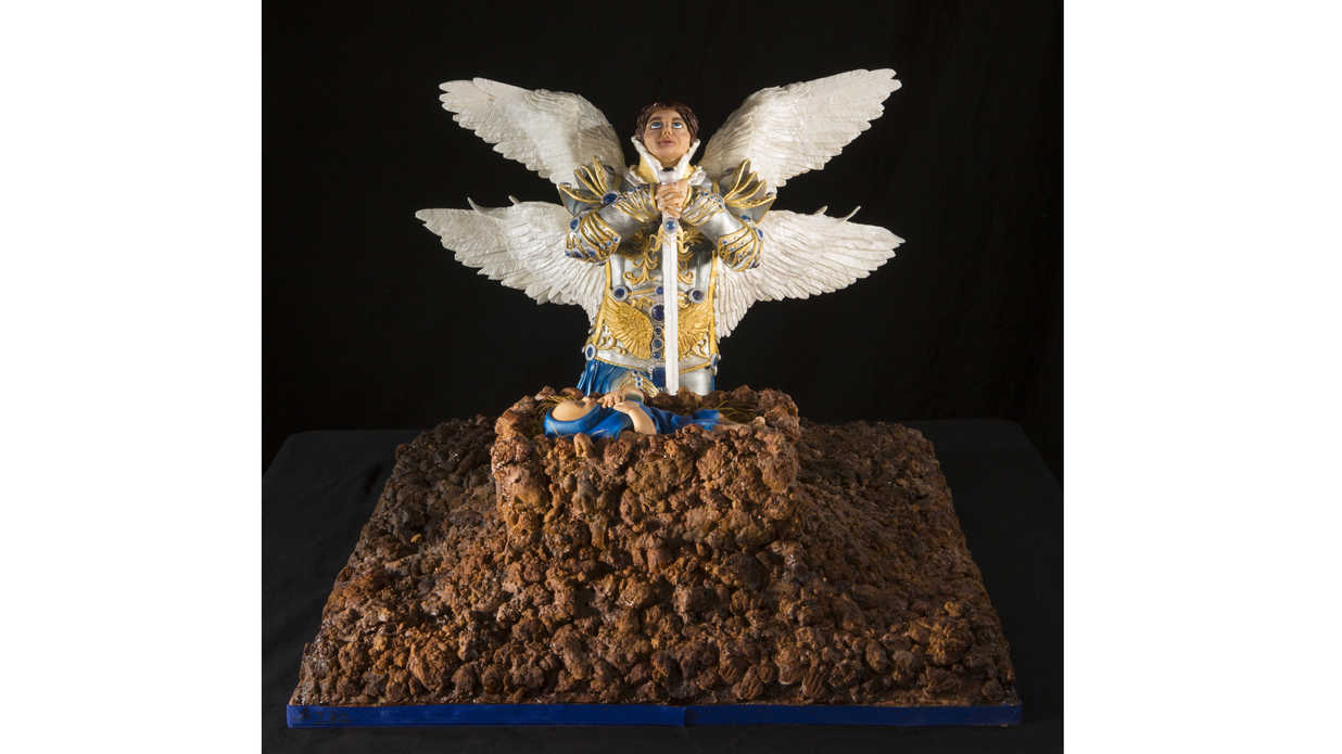 Angel and Jesus Gingerbread Statue