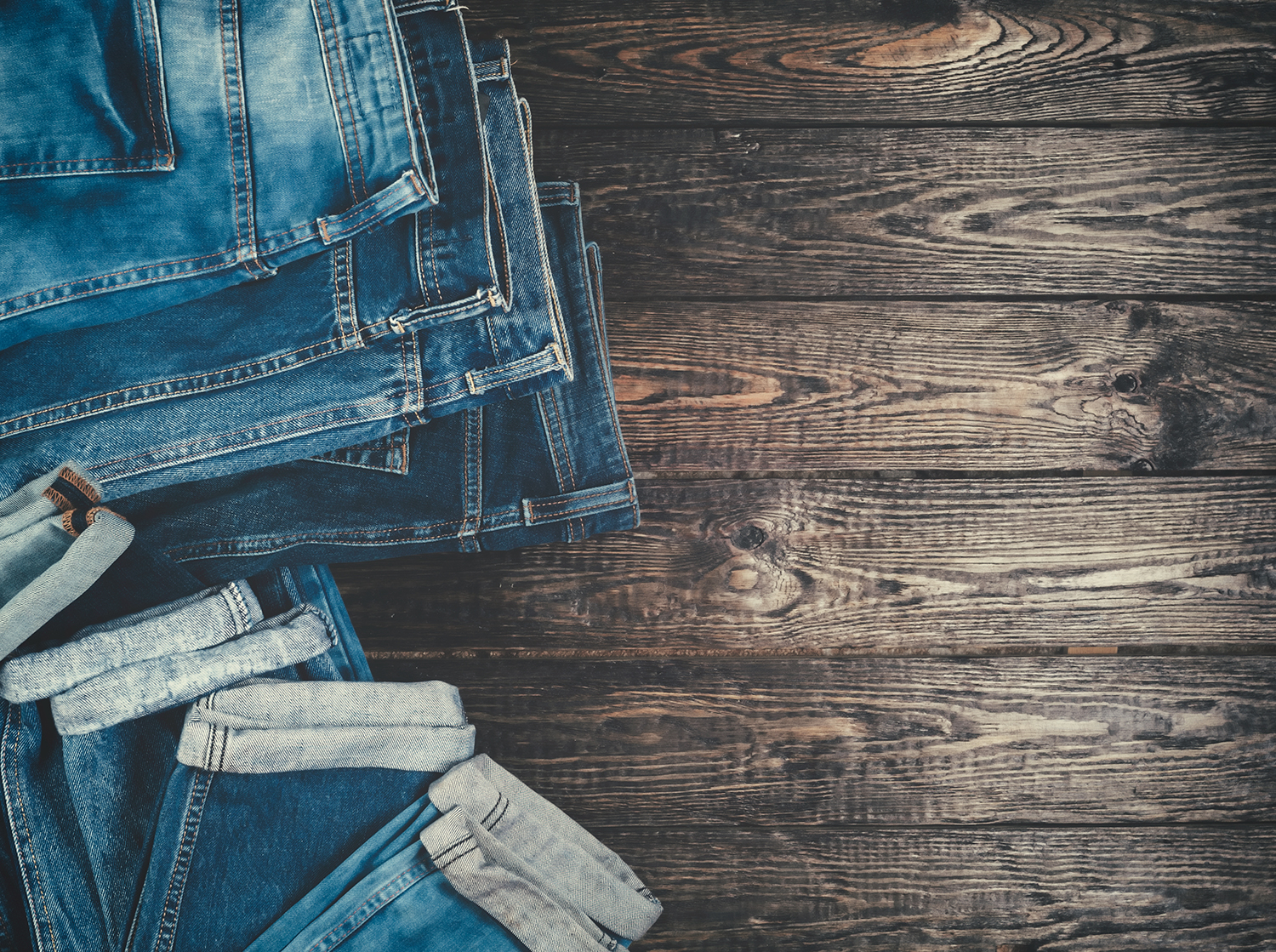 Levi Jeans on Wooden Background