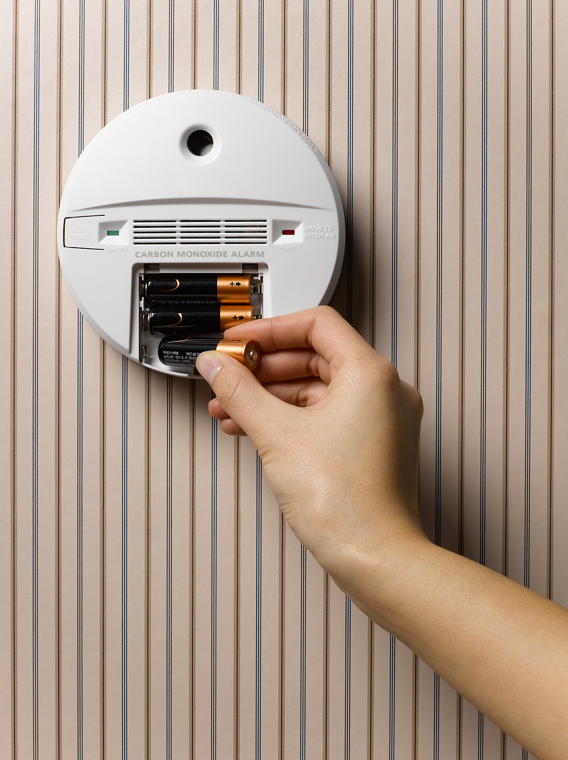 Carbon Monoxide Alarm and Hand
