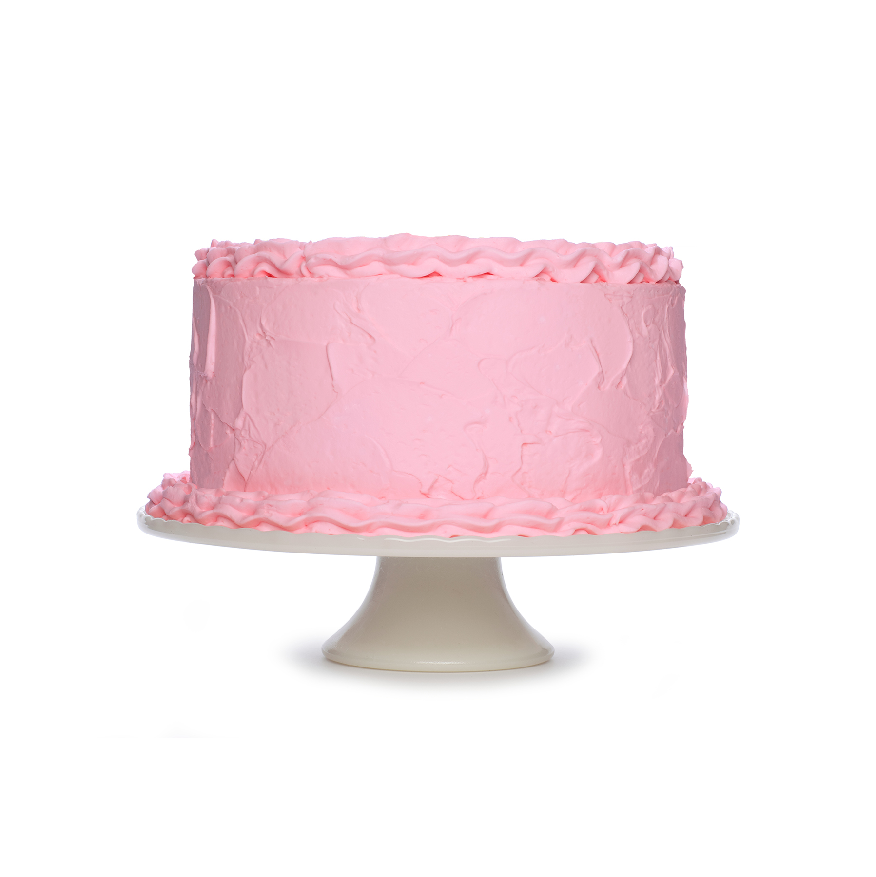 Cake with pink frosting