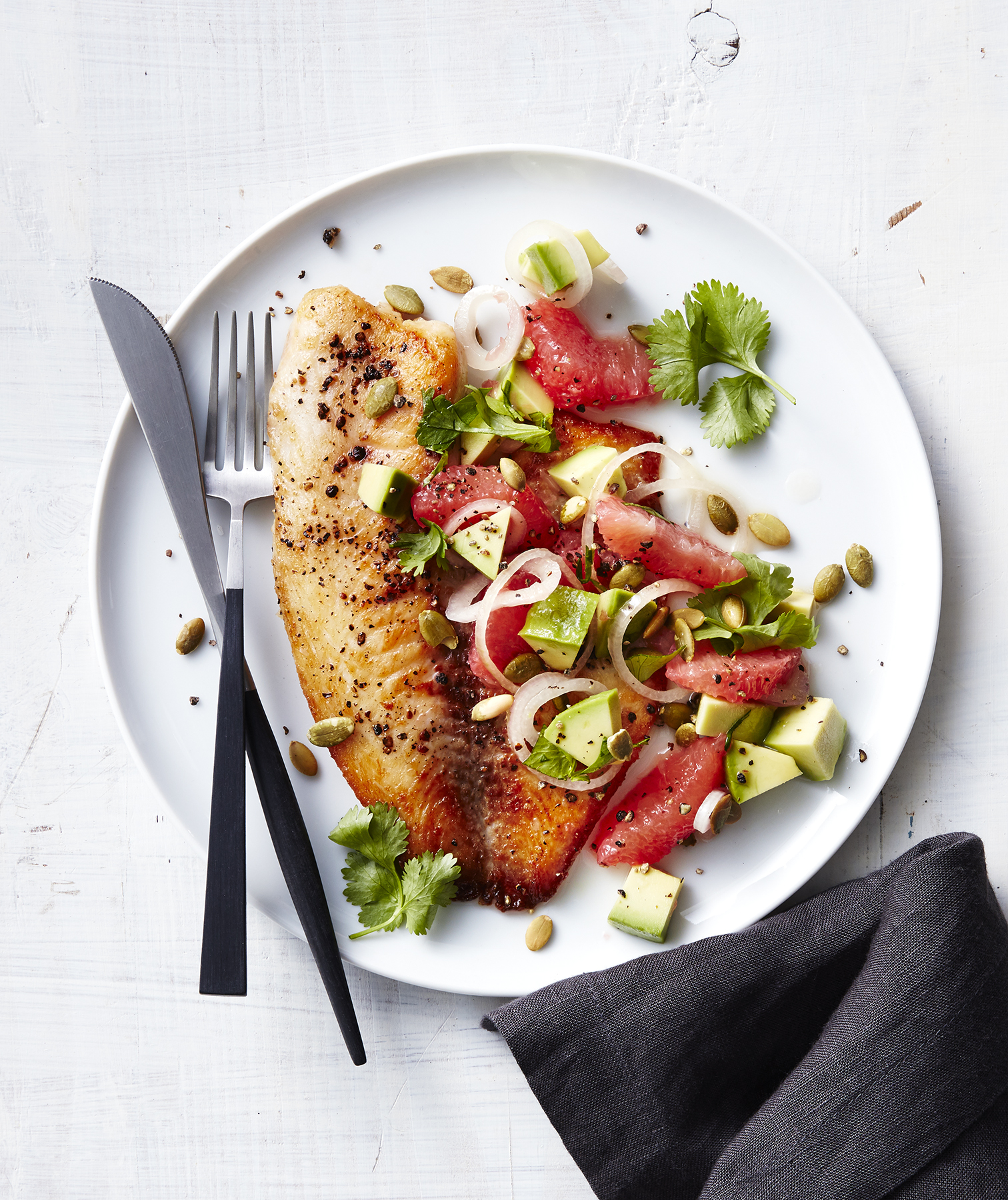 Pan-Seared Tilapia With Grapefruit-Avocado Salsa