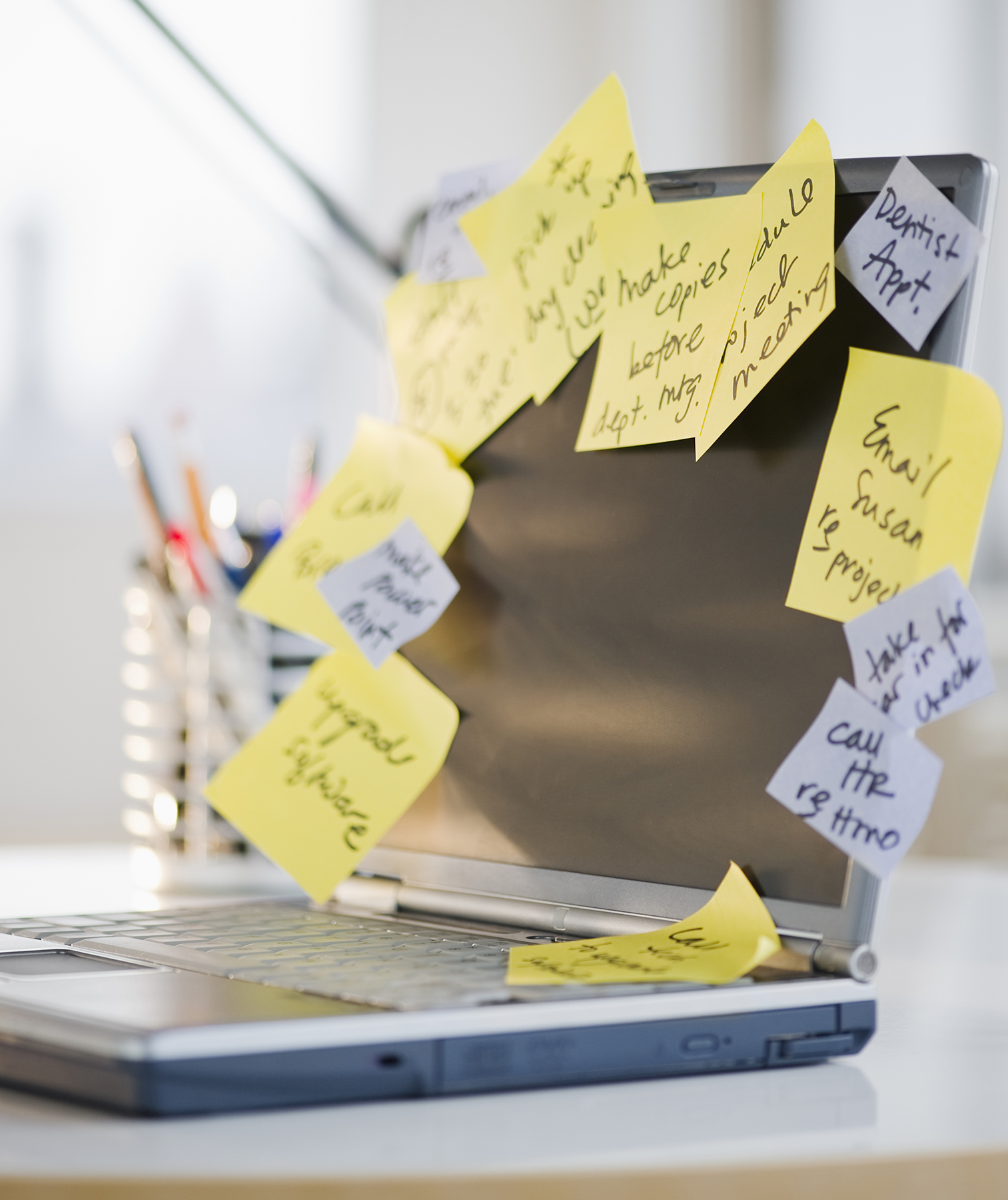 To-do lists on sticky notes