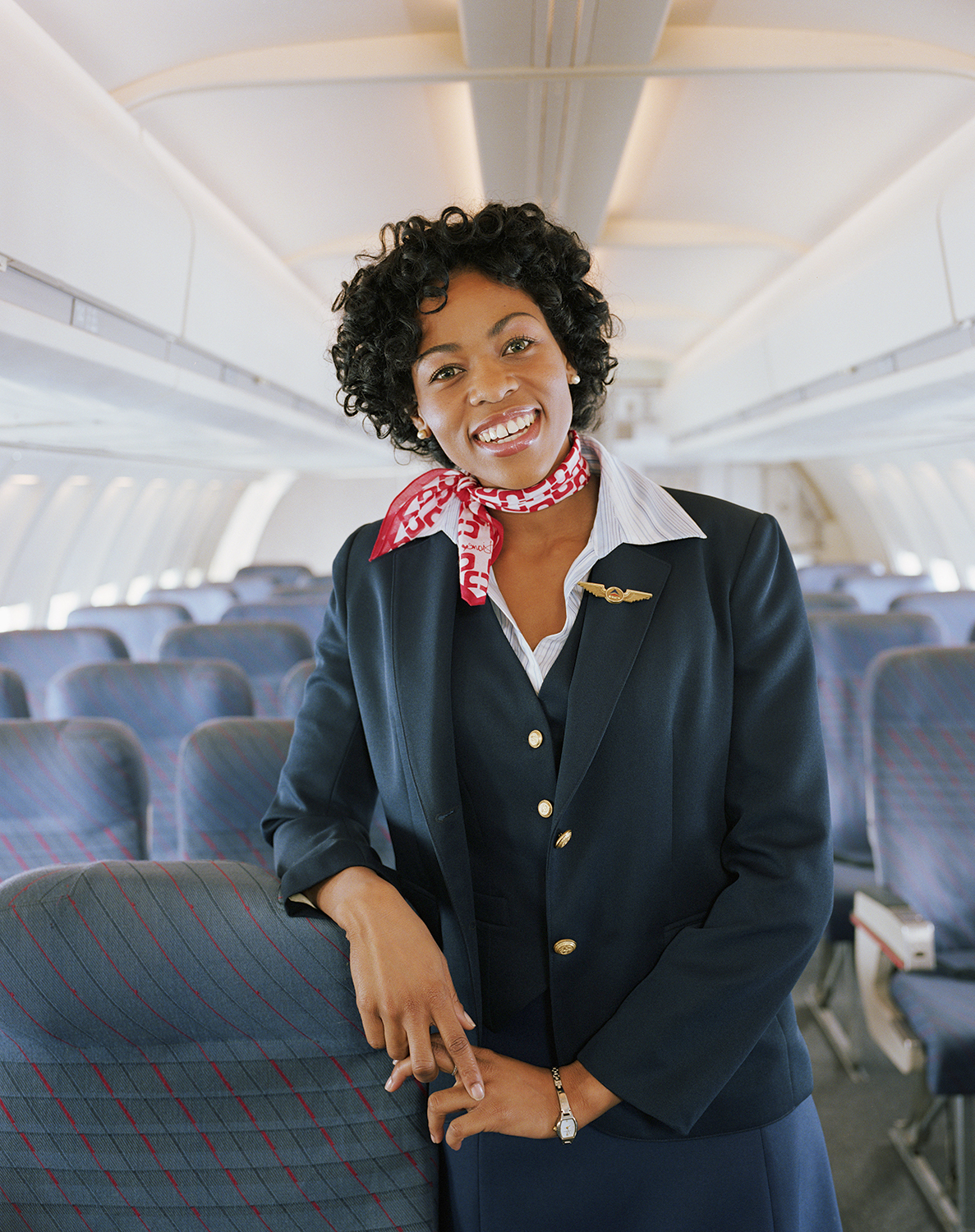 Airline Flight Attendant Smiling