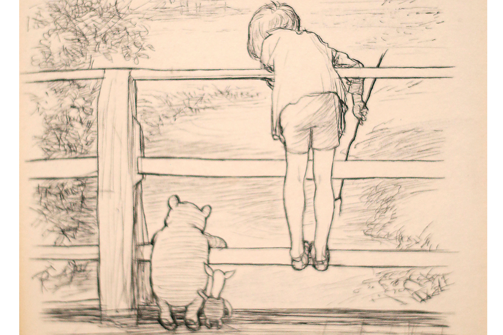 Pooh, Piglet and Christopher Robin