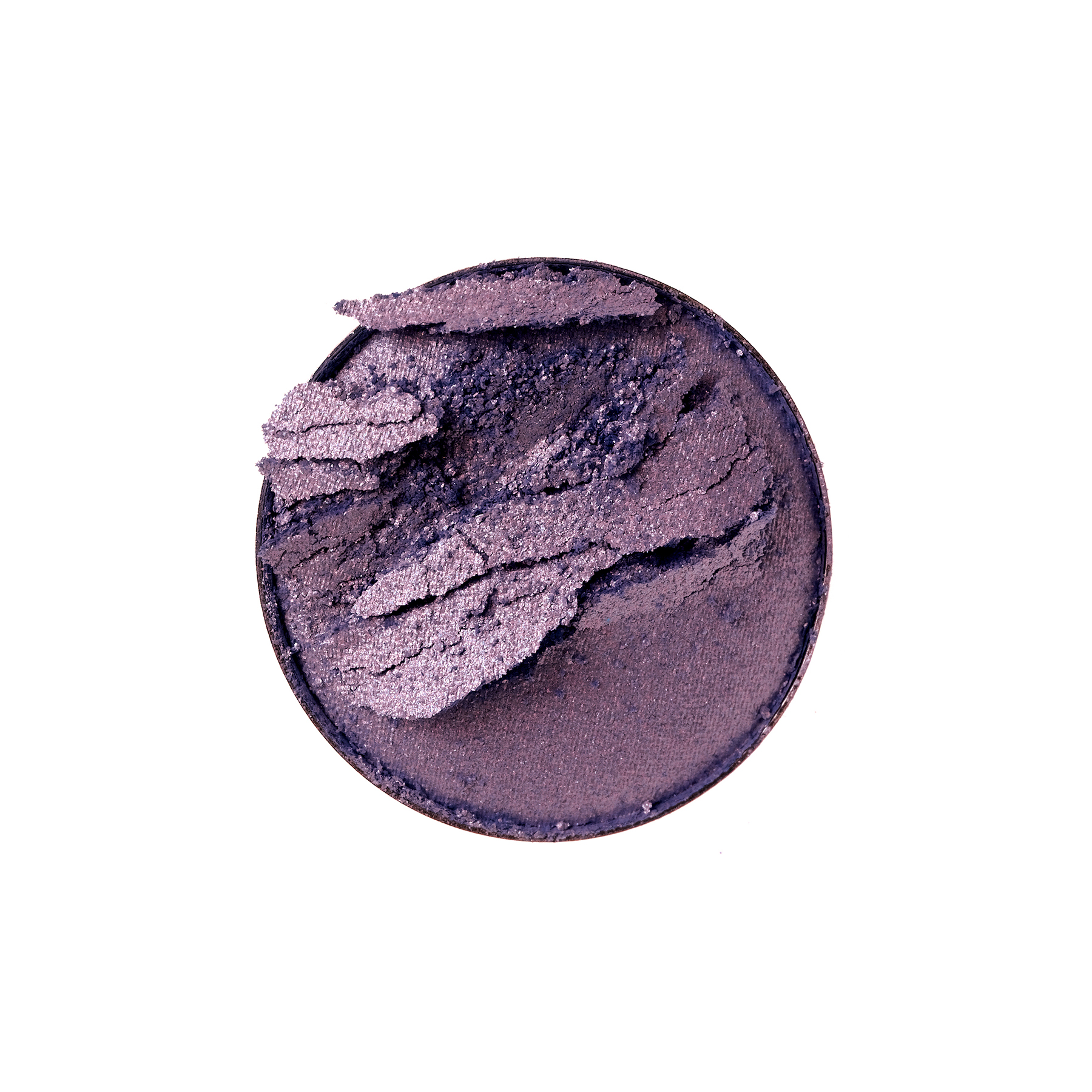 Broken purple eyeshadow