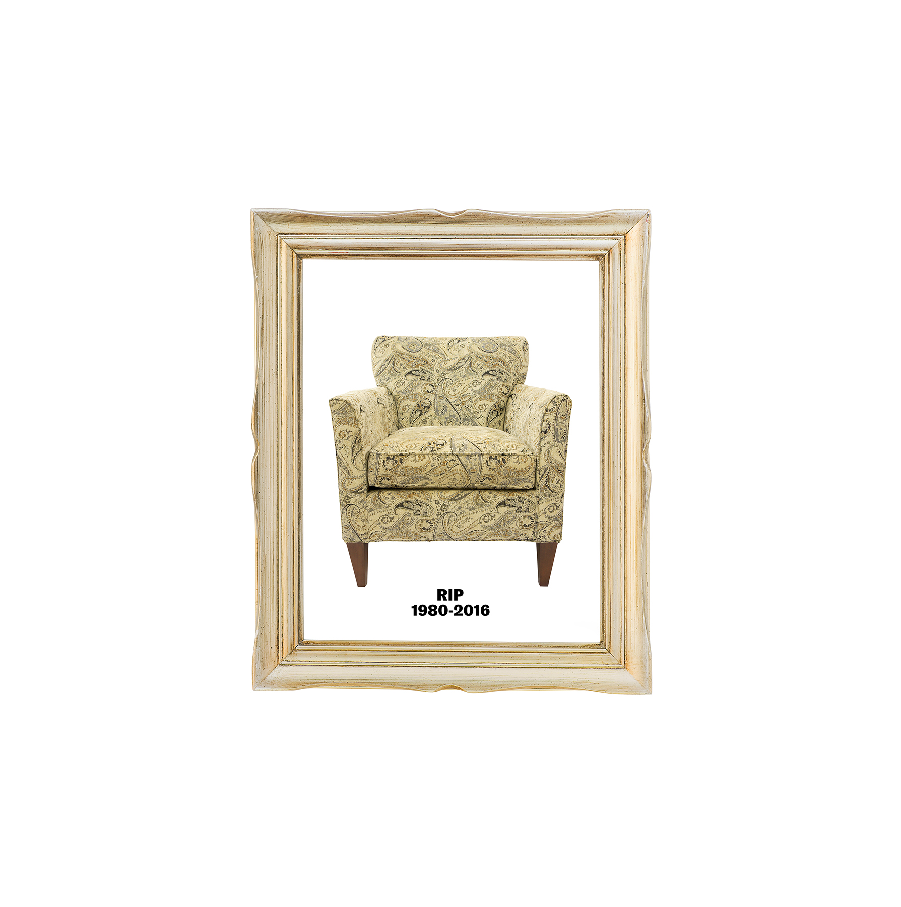 Paisley chair, framed