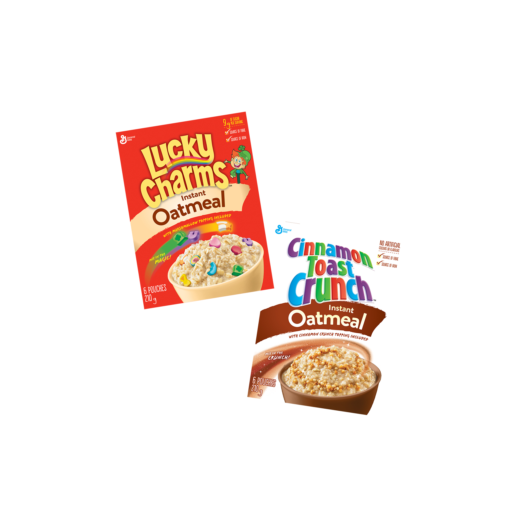 Lucky Charms and Cinnamon Toast Crunch Now Come in Oatmeal Form