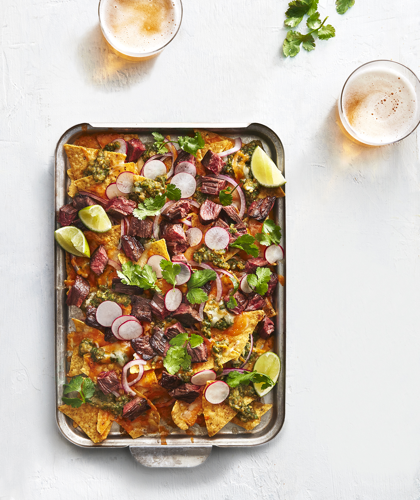 Steak and Green Chile Nachos