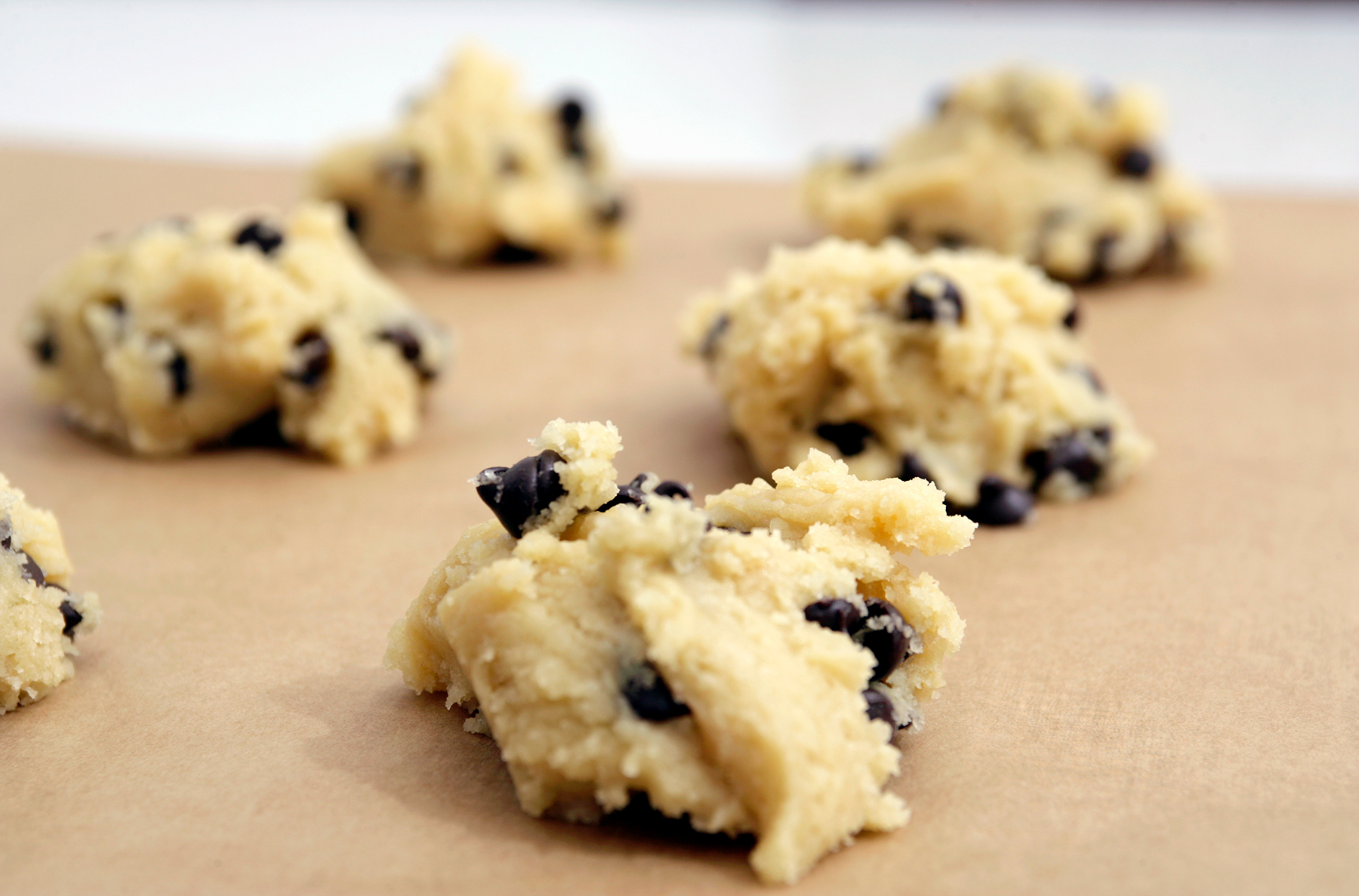 Refrigerated Cookie Dough Ready for the Oven