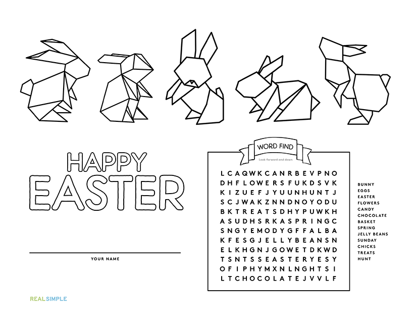 Easter Bunnies Placemat