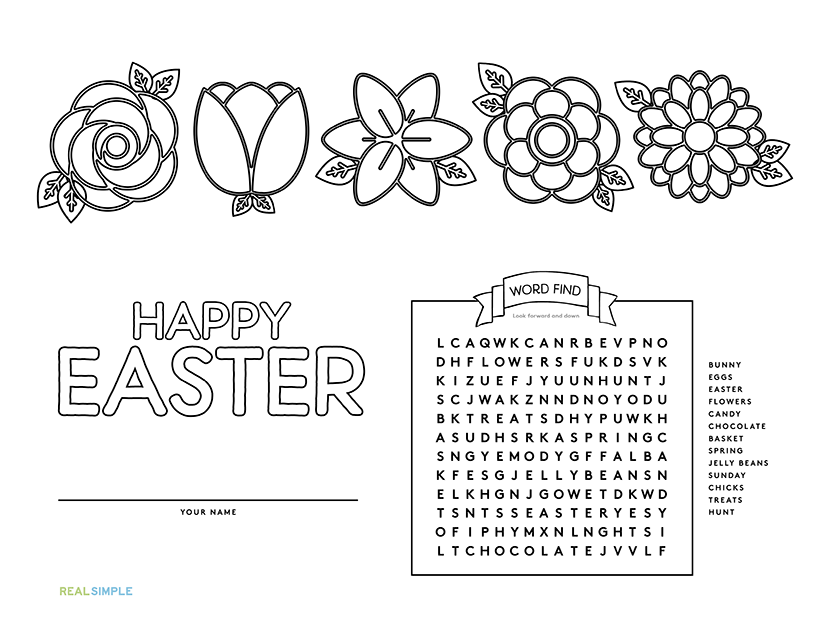 Easter Flowers Placemat