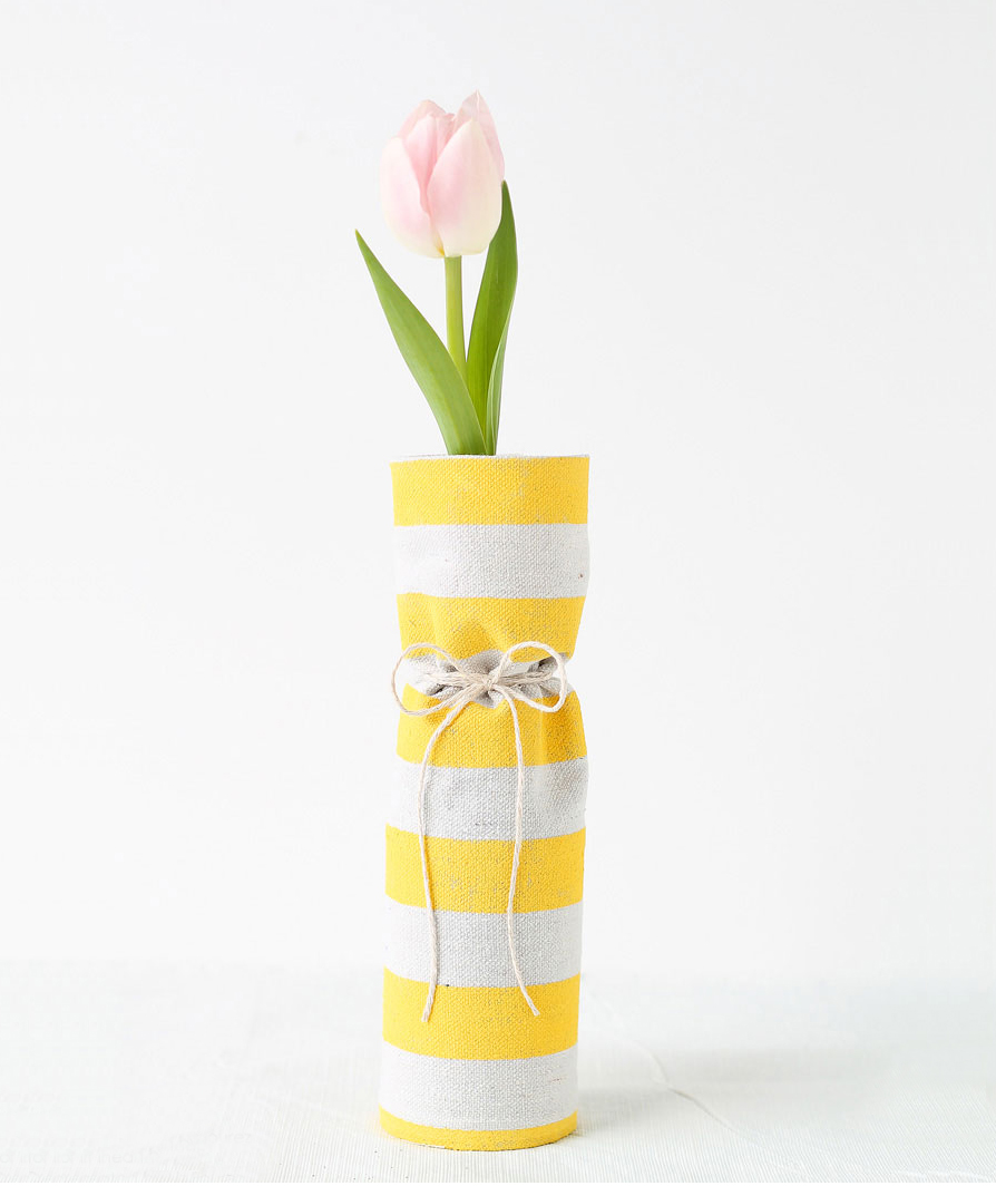 Fabric Covered Vases