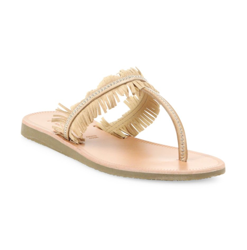 Joie Maisie Studded Fringe Thong Sandals