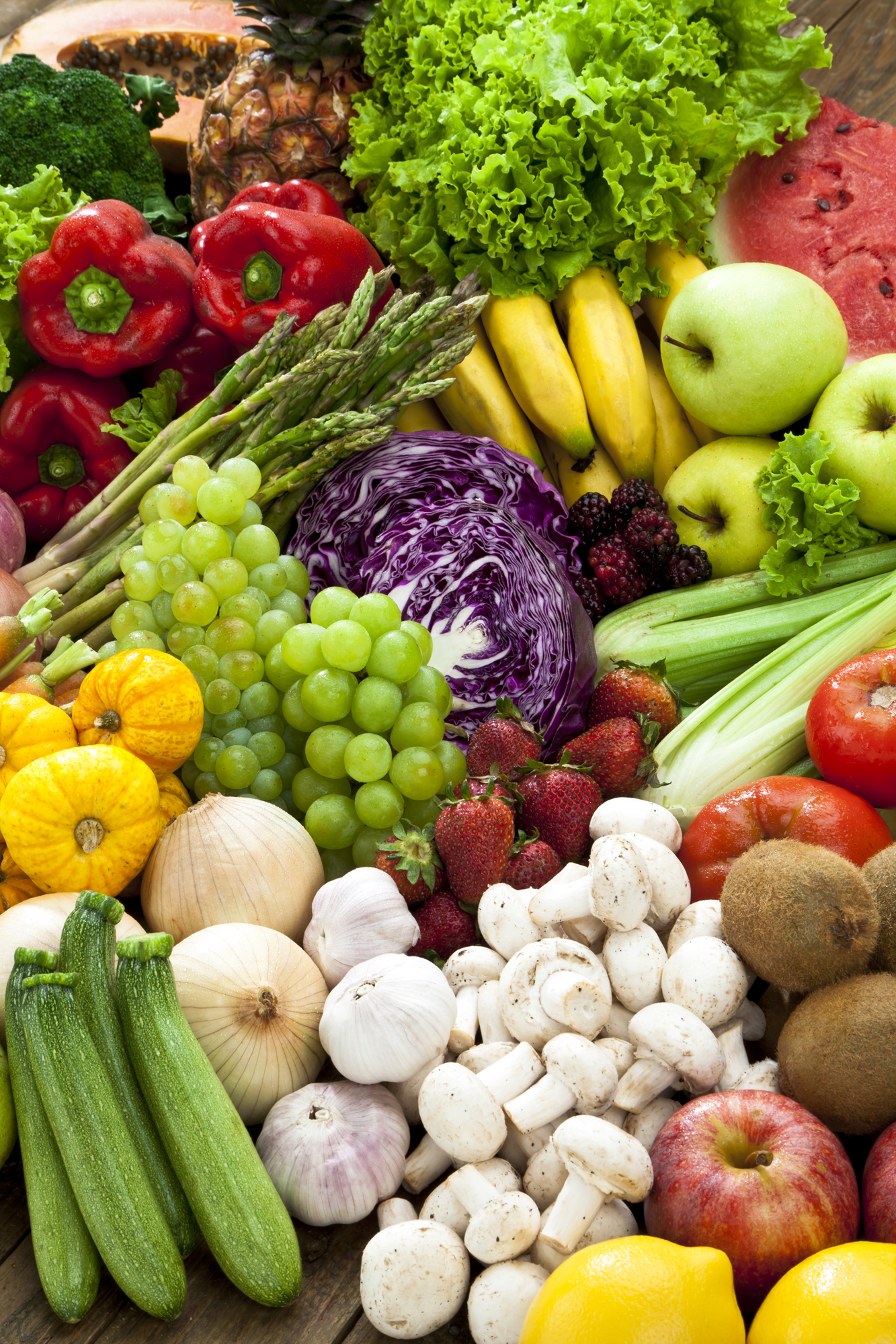 healthy food fruits and vegetables