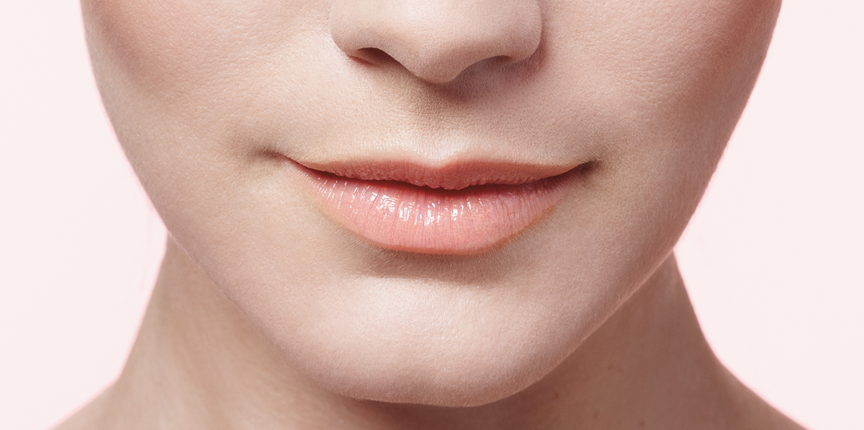 Close-up of natural lips